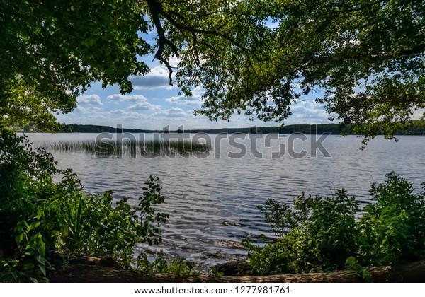 """Großer Stienitzsee"" (""Great Lake Stienitz"") at the ""66 Lake Trail"" near Hennickendorf"