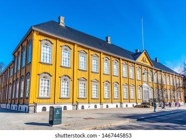 Stiftsgarden mansion in the center of Trondheim, Norway