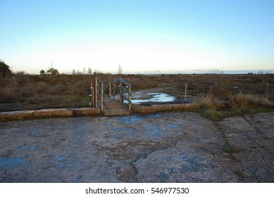 Stile at The Great Alvar Plain, a grassland at the swedish island Oland