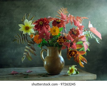 Still life with a beautiful bouquet of flowers