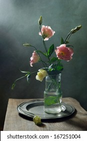Still life with with beautiful flowers