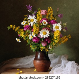 Still life with a bouquet