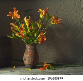 Still life with a bouquet of lilies