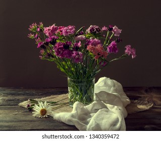 Still life with carnation flowers