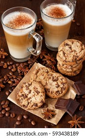 Still life with cookies and coffee