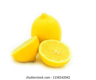 still life with cut lemon