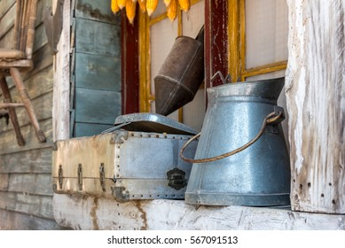 Still life & decoration of window at rural rustic farm house