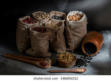 Still life of different types of legumes