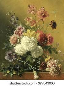 Still Life with Flowers, Georgius Jacobus Johannes van Os, c. 1820-61, Dutch painting, oil on panel