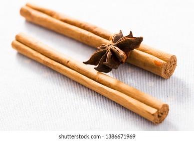 Still life of fragrant cinnamon and anise