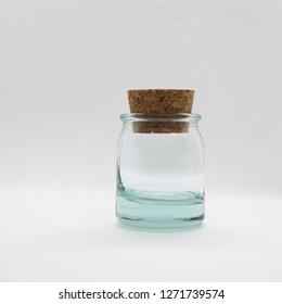 still life glass jar