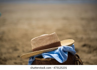 Still Life with hat on the beach