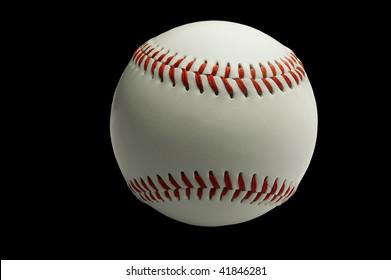 Still Life of isolated baseball on black background