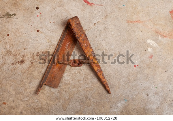 Letter Made Out Of Objects.Still Life Letter Alphabet Made Trash Stock Photo Edit Now 108312728