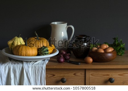 Still life with motionless