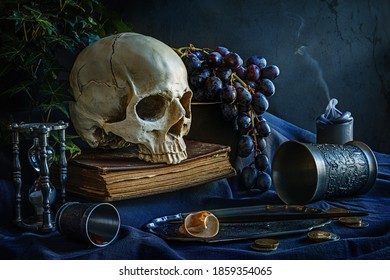 Still life, natural lighting, about the evanescence of human beeing