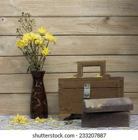 Still Life Old Treasure Box