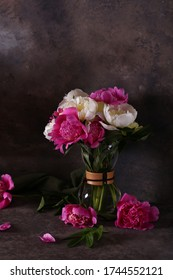 still life peonies flowers for background and decoration