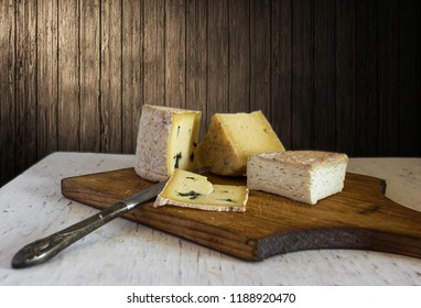 still life with pieces of cheese. food. delicious. vintage. retro.
