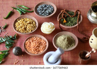 still life of spices and cereals for design