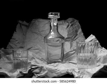 Still Life with a square bottle and glasses