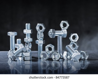 Still Life with Steel Bolts and Nuts.