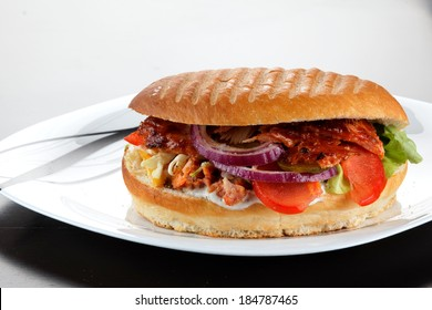 still life with turkish doner kebab and shawarma. close up