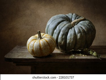 Still life with two pumkins