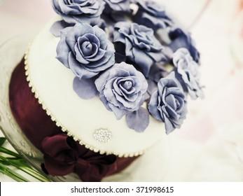 still life with wedding cake