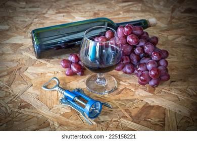 Still Life, wine and grape