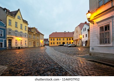 Still street in Zatec town. Czech Republic.