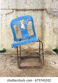 Still in use. Chair with steel leg.