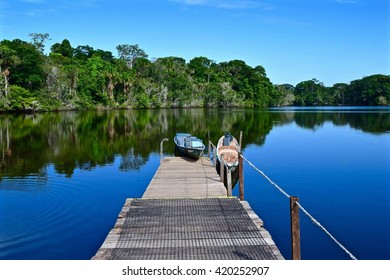 Still water lake in the Amazon