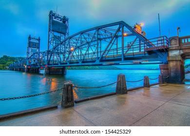 Still water Lift Bridge, St. Croix River Bridge at Still water, Mn/DOT Bridge #4654, and Wis/DOT Bridge #M-61 is a  crossing the St. Croix River between Still water, Minnesota, and Houlton, Wisconsin.