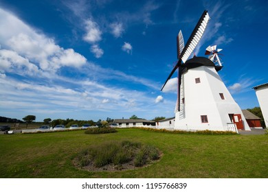 Still working Dutch-type windmill built in 1877 in Aarsdale, Bornholm, Denmark