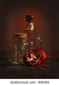 Stil-life with pomegranates