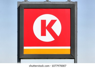 Stilling, Denmark - April 20 , 2018: Circle K logo on a panel. Circle K is an international chain of convenience stores, founded in 1951 in USA