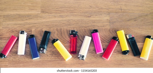 still-life with the gas lighters
