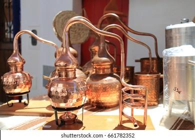 Stills for alcohol distillation