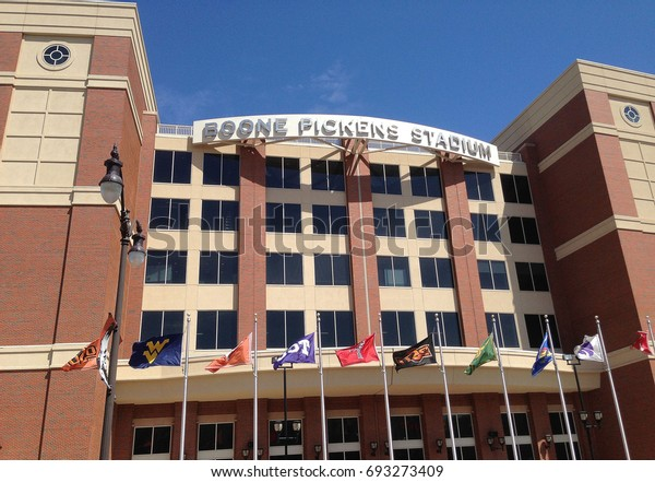 STILLWATER, OKLAHOMA / USA – April 20, 2013: Boone Pickens Stadium on the campus of Oklahoma State University