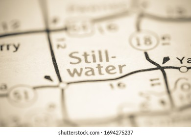 Stillwater. Oklahoma. USA on a geography map