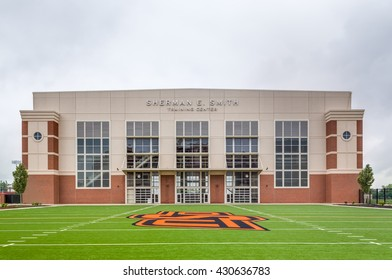 STILLWATER, OK/USA - MAY 20, 2016: Sherman E. Smith Training Center on the campus of Oklahoma State University.