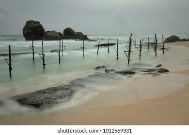 The stilt fishermen at Koggala in Sri Lanka