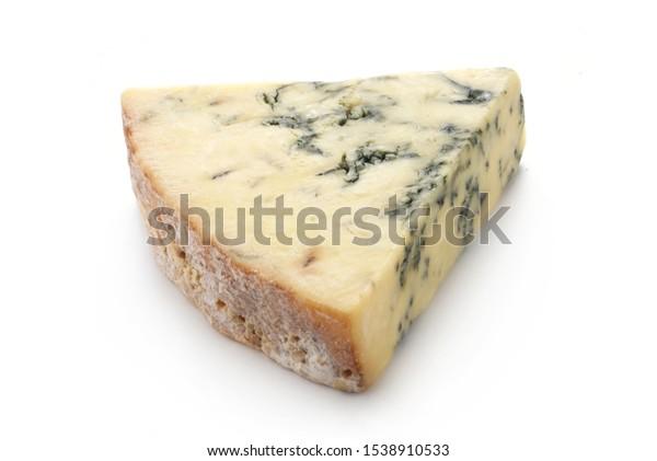 Stilton Cheese Isolated On White