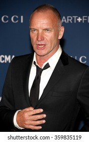 Sting at the LACMA 2013 Art + Film Gala Honoring Martin Scorsese And David Hockney Presented By Gucci held at the LACMA in Los Angeles, USA on November 2, 2013.