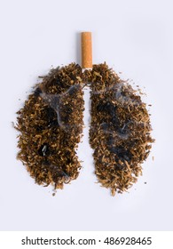 Sting snuff shaped lungs burned and smoldering