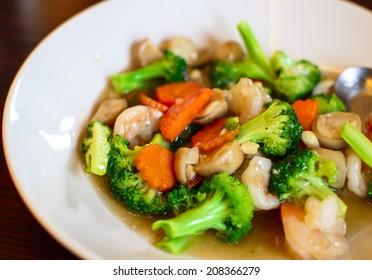 Stir fried broccoli