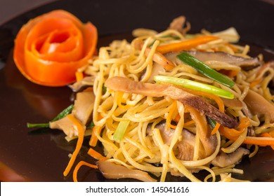 Stir fried noodles Chinese food ,it call mein Chow