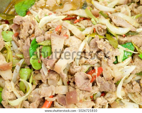 Stir Fried Pork Belly Cabbage Stink Stock Photo (Edit Now) 1026721810