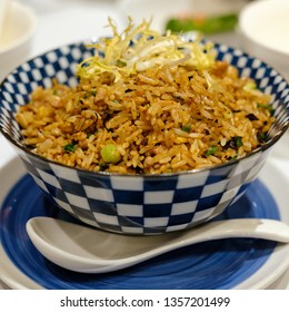Stir fried rice with diced pork
